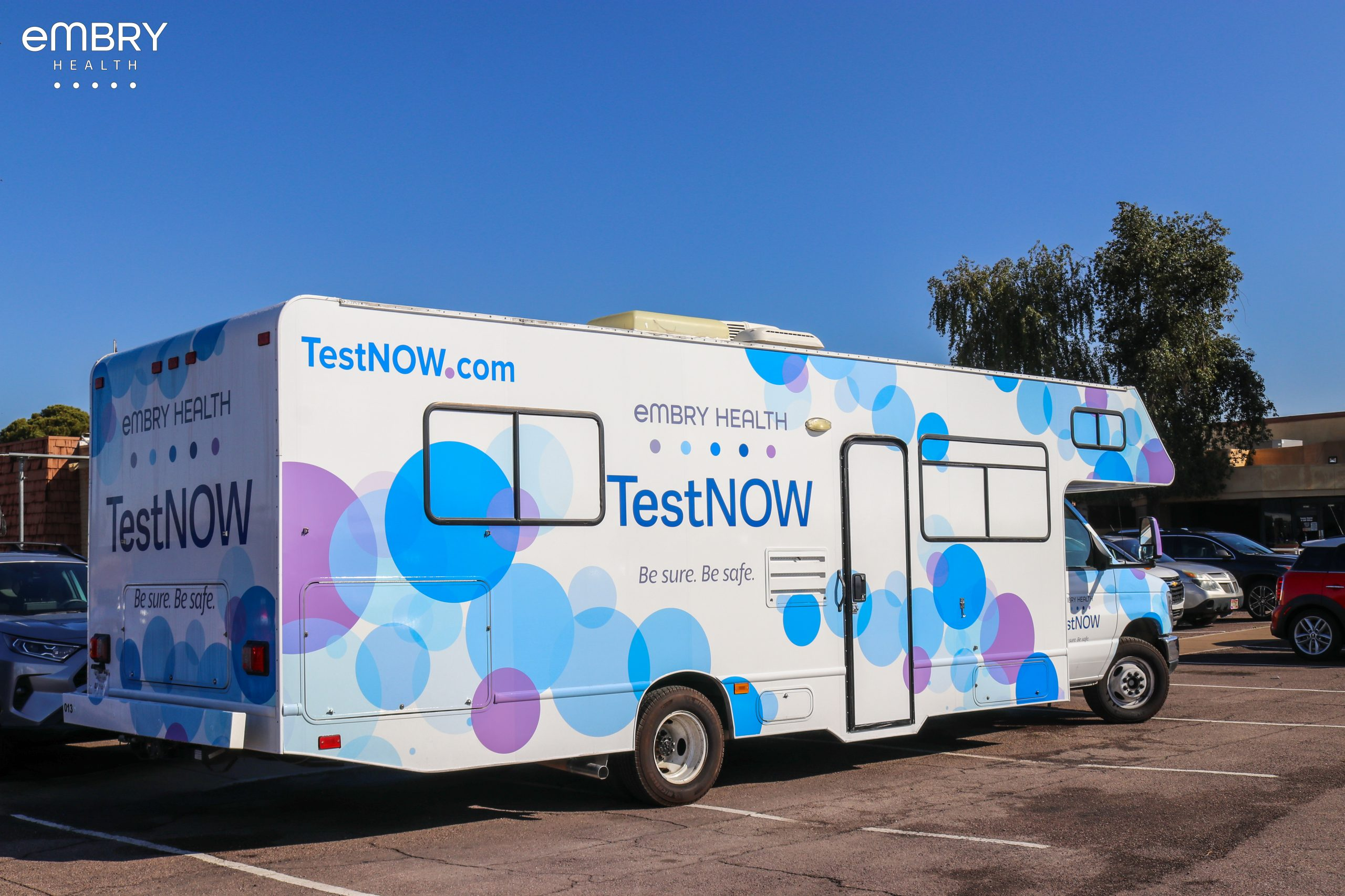 Embry Health now offers the convenience of a Mobile Testing Clinic. The flexibility and mobility allows Embry Health to rapidly increase free* COVID-19 and antibody test collection and expand offerings to include COVID-19 and free flu vaccinations.