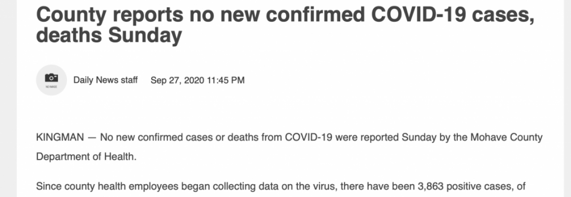 County reports no new confirmed COVID-19 cases, deaths Sunday