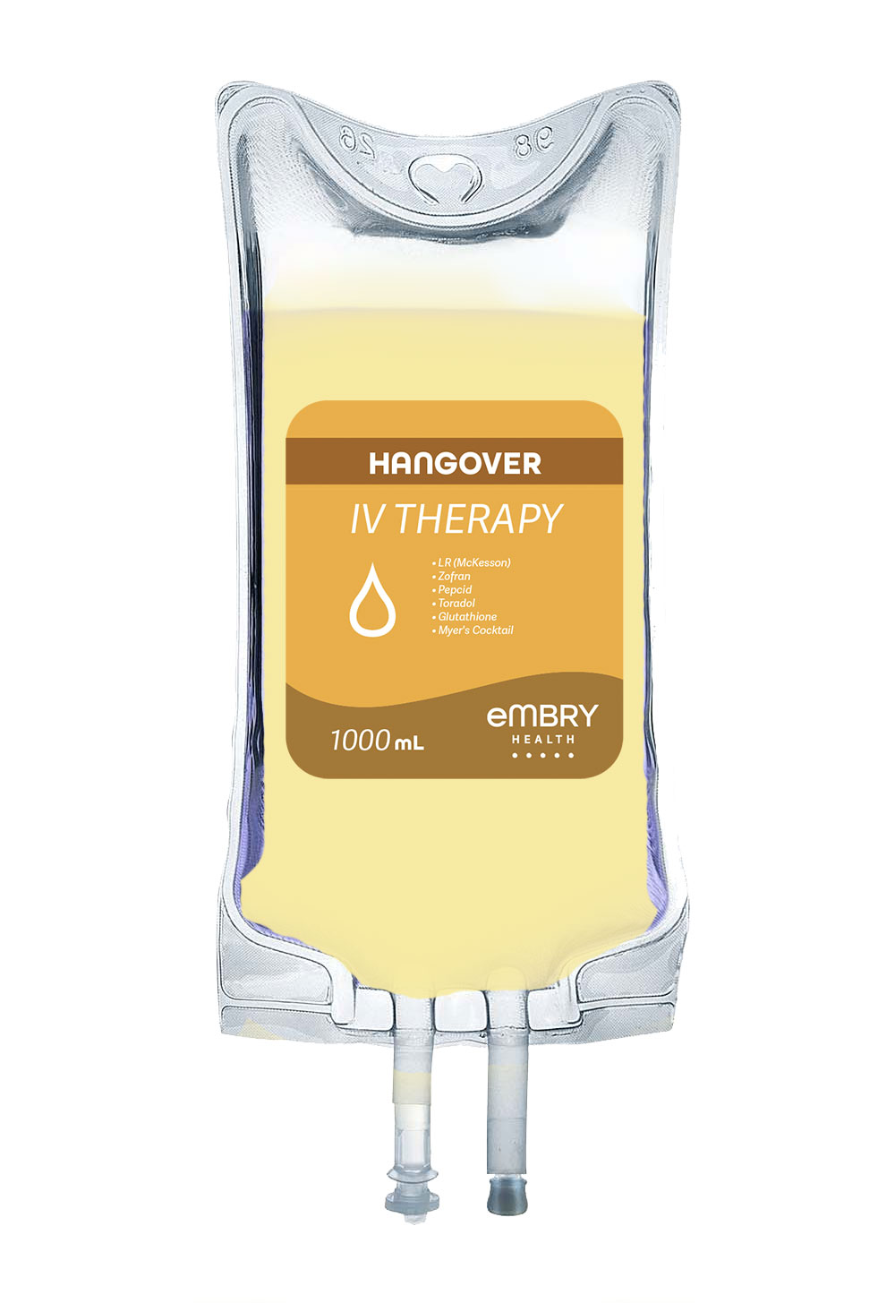 A blend of IV fluids, electrolytes, vitamins, and medications to detoxify your body and cure your hangover symptoms.